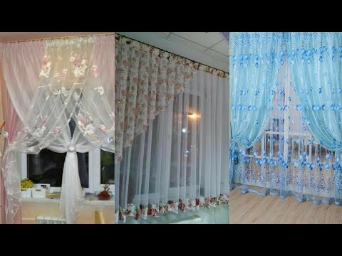 stylish net curtain designs // lace fabric curtains