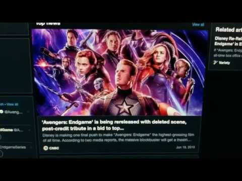 Avengers Endgame Getting a Re-Release in Theaters to Defeat Avatar