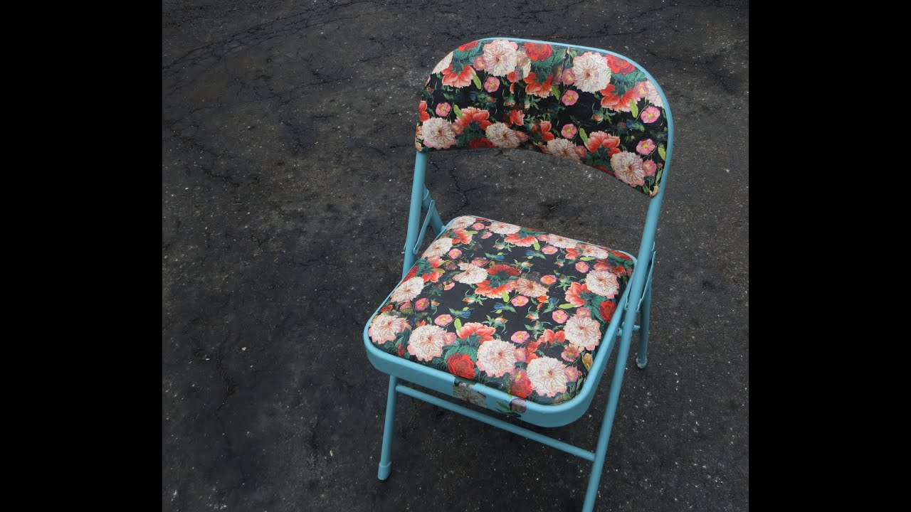 How to decoupage Furniture A folding chair Annie Sloan paint