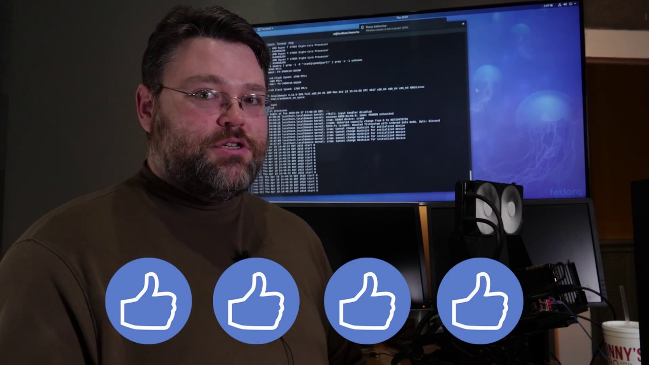 How are Ryzen 2000 series desktop CPUs in Linux? - YouTube