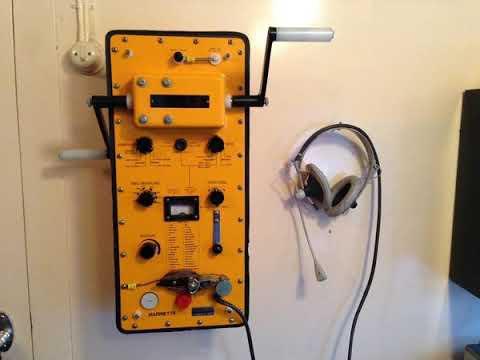 HF & 500 kHz old  maritime radio