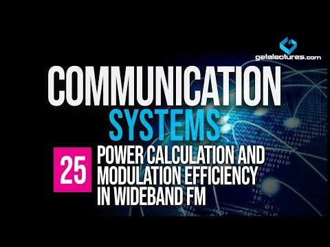 Communication System 25 Power calculation and Modulation Efficiency in Wideband FM
