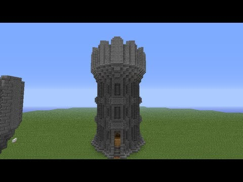 minecraft castle tower tutorial - youtube