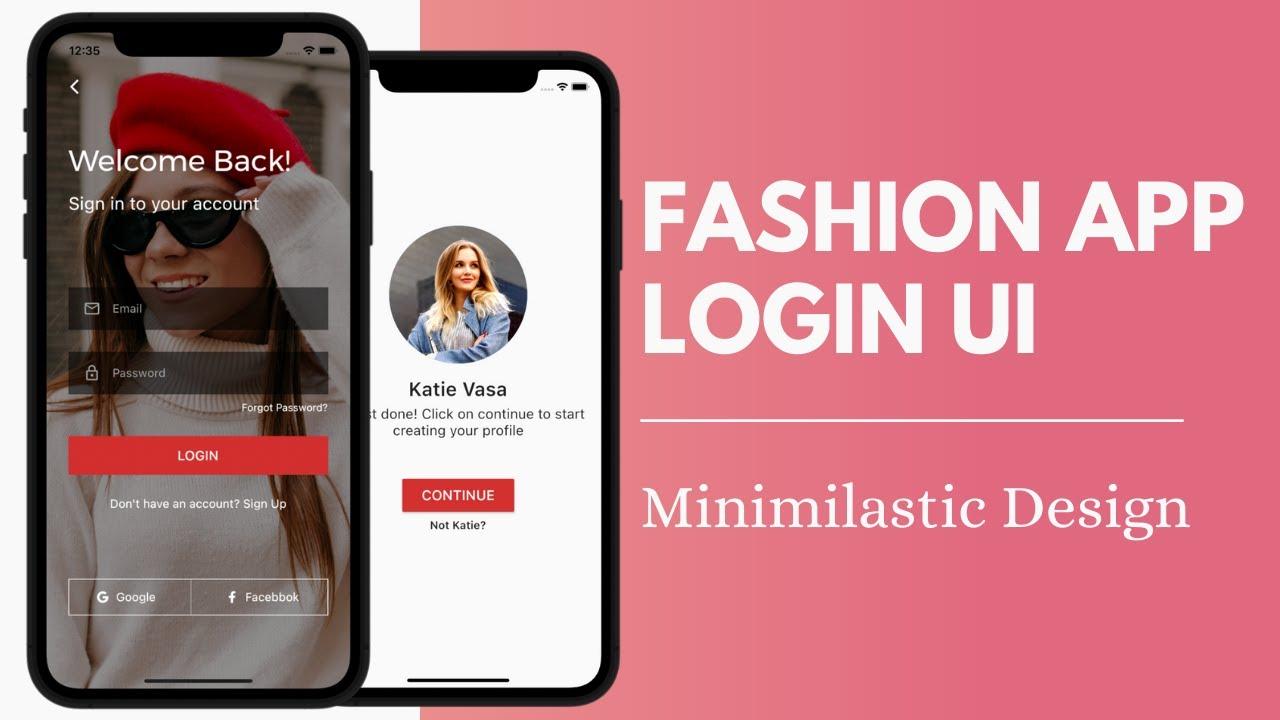 Flutter UI   Fashion App Login UI   Flutter UI Speed Code   Flutter UI Tutorial