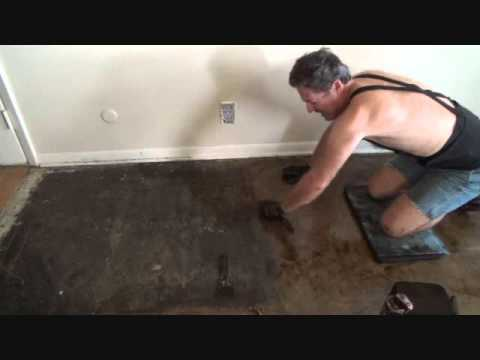 removing black tar flooring mastic