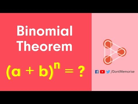 Binomial Theorem - General Formula - CBSE 11