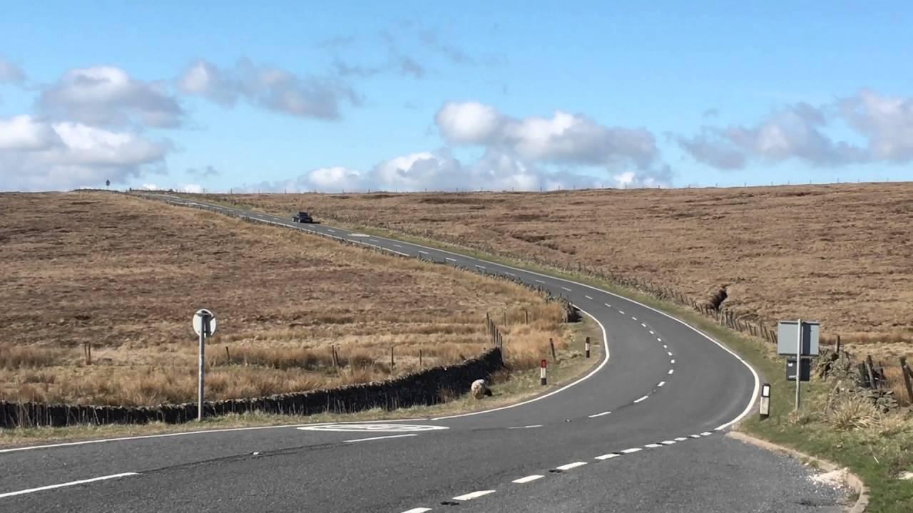Jaguar XJ X358 drive past in Peak District - YouTube