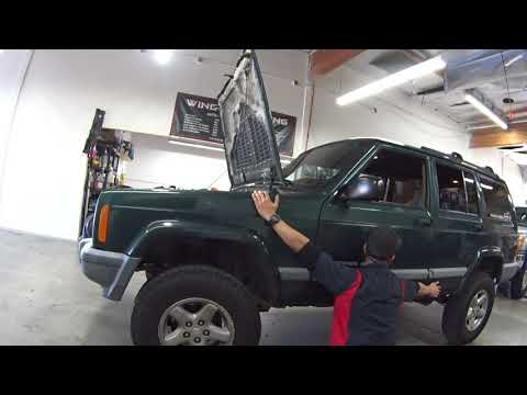 2000 Jeep Cherokee  4 Speakers, Stereo, AMP & SUB Install