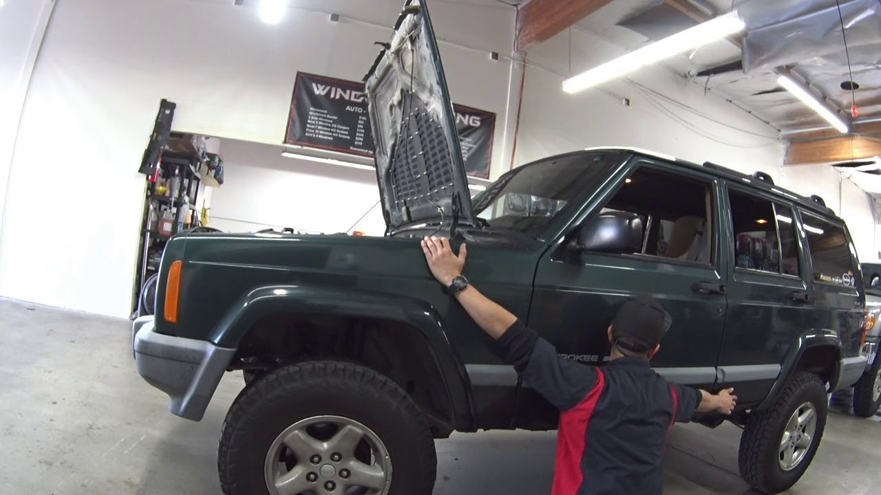 2000 Jeep Cherokee  4 Speakers, Stereo, AMP & SUB install
