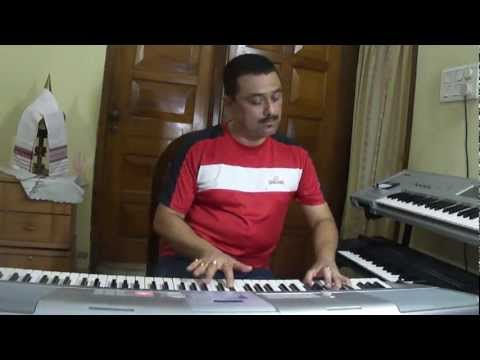 SHILLONG ORE GODHULI(melody of an Assamese song in keyboard,home video)