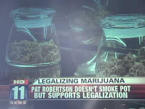PAT ROBERTSON RELIGIOUS CRYSTAL CHURCH SERMON GUY WANTS MARIJUANA LEGAL!