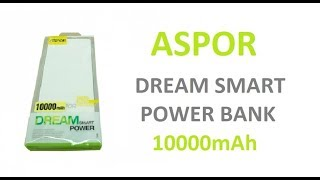Aspor Dream Smart 10000mAh Power Bank Unboxing and Review | Makro.pk Mobile Accessories