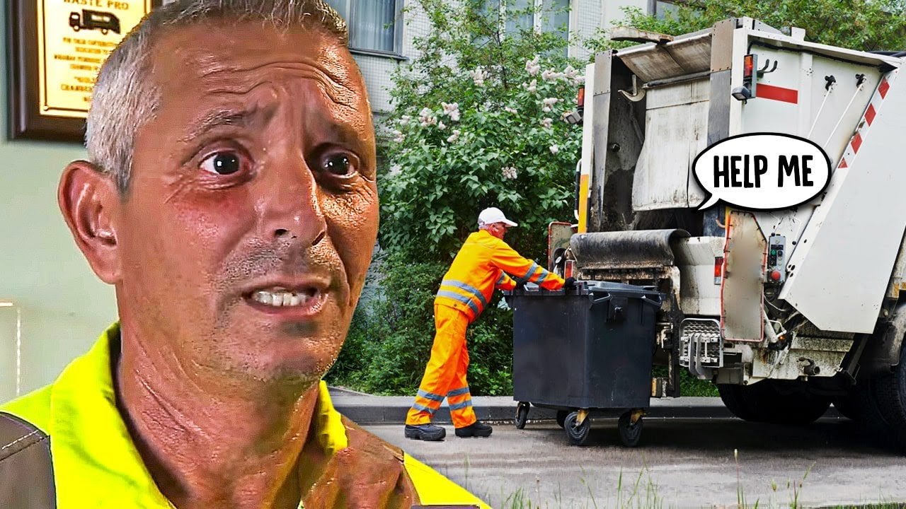 Garbage Man Hears A Scream Behind Truck – Looks Around To Find The Worst Has Happened
