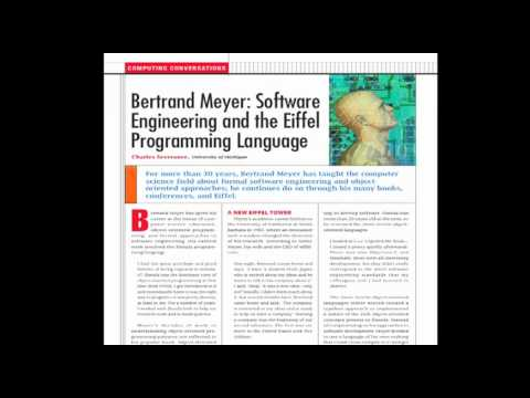 Computing Conversations: Bertrand Meyer: Eiffel Programming Language