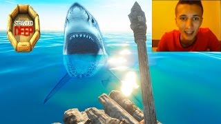 Stranded Deep island survival #11 - Shark attacks funny gameplay