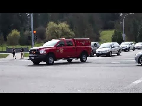 **Crazy Siren Use + Close Call** New West Fire Squad 1 Responding
