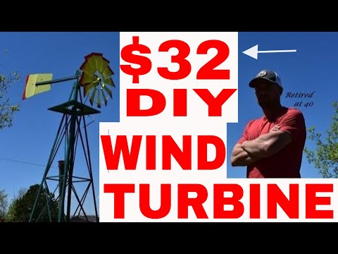 DIY Homemade Wind Turbine for $32!!!💰