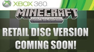 Minecraft Xbox 360 - Retail Disc Version! Coming Soon