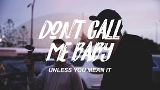 shane x ryan | don't call me baby (unless you mean it)