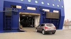 Auton ajaminen laivaan