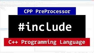 #include PreProcessor Directives in C++ Programming Video Tutorial