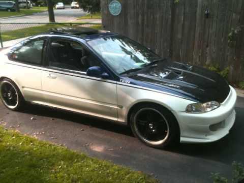 Custom 1993 Honda Civic Coupe B16A JDM - YouTube
