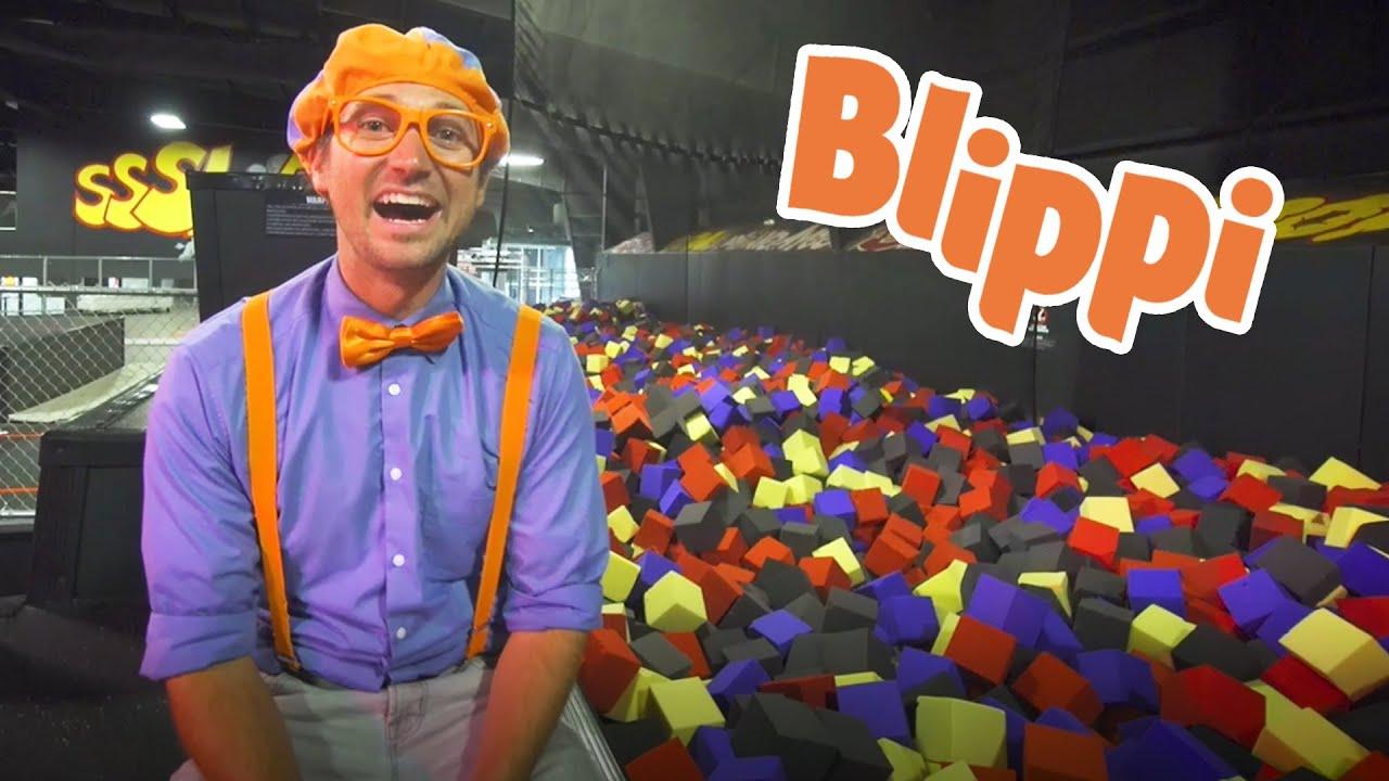 Blippi Visits An Indoor Trampoline Park For Kids | Learning For Kids With Blippi Videos