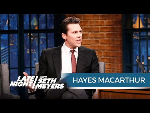 Hayes MacArthur Used to Live in a RatInfested Apartment with Ike Barinholtz and Josh Meyers