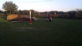Clactonbury 2011 beer keg race- Chris v Gary