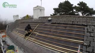 Installing GSE In-roof mounting system / Panasonic solar pv panels time lapse video