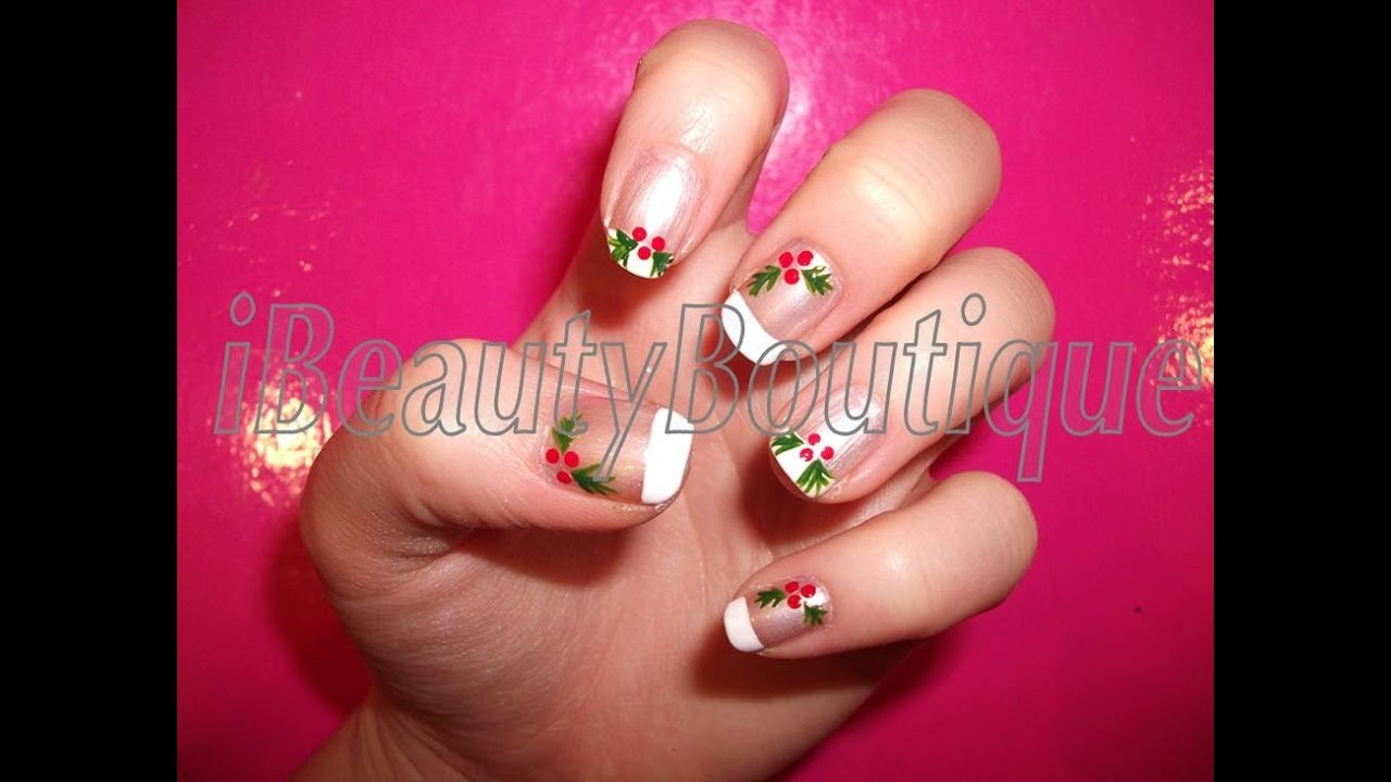 Christmas holly nail art ibeautyboutique youtube prinsesfo Gallery