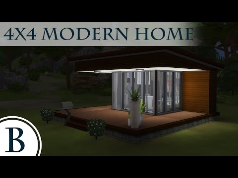 The Sims 4 Speed Build - 4x4 Modern Home