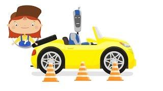 Arzt McWheelie - ein Kinder-Cartoon. Eine Parktronic. Autos und Lastwagen für Kinder