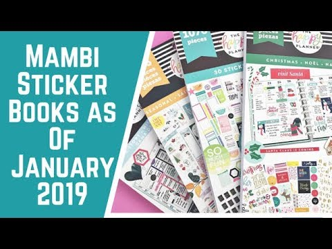 The Happy Planner Sticker Books- As of January 2019