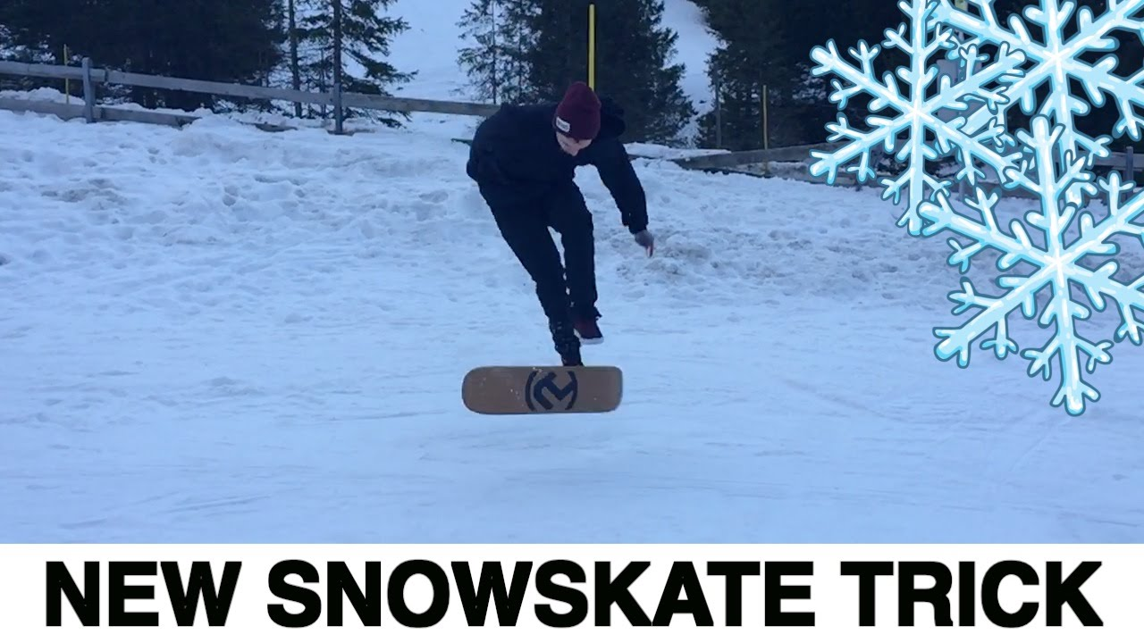 how to do tricks on a snowskate