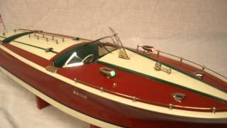 ITO style japanese toy wood boat, 22in Speedboat by R-C CRAFT