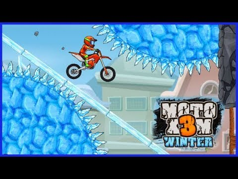 New Update MOTO X3M Bike Racing Game All Winter Levels #MOTOX3M #MOTOX3MGameplay