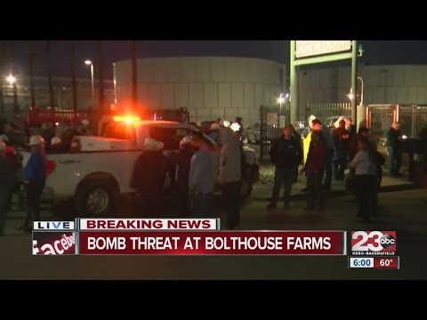 Bomb threat reported at Bolthouse Farms