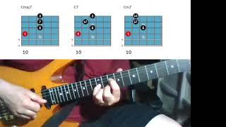 [재즈기타 연습 5] 기본코드 폼5 (4번줄 루트 메이…
