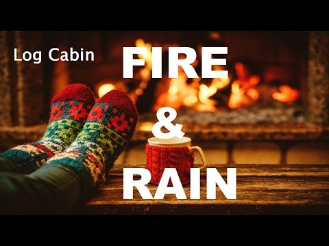 Sleep White Noise Rain Sounds & Crackling Fire Sleep Sounds (Sleepy sounds)