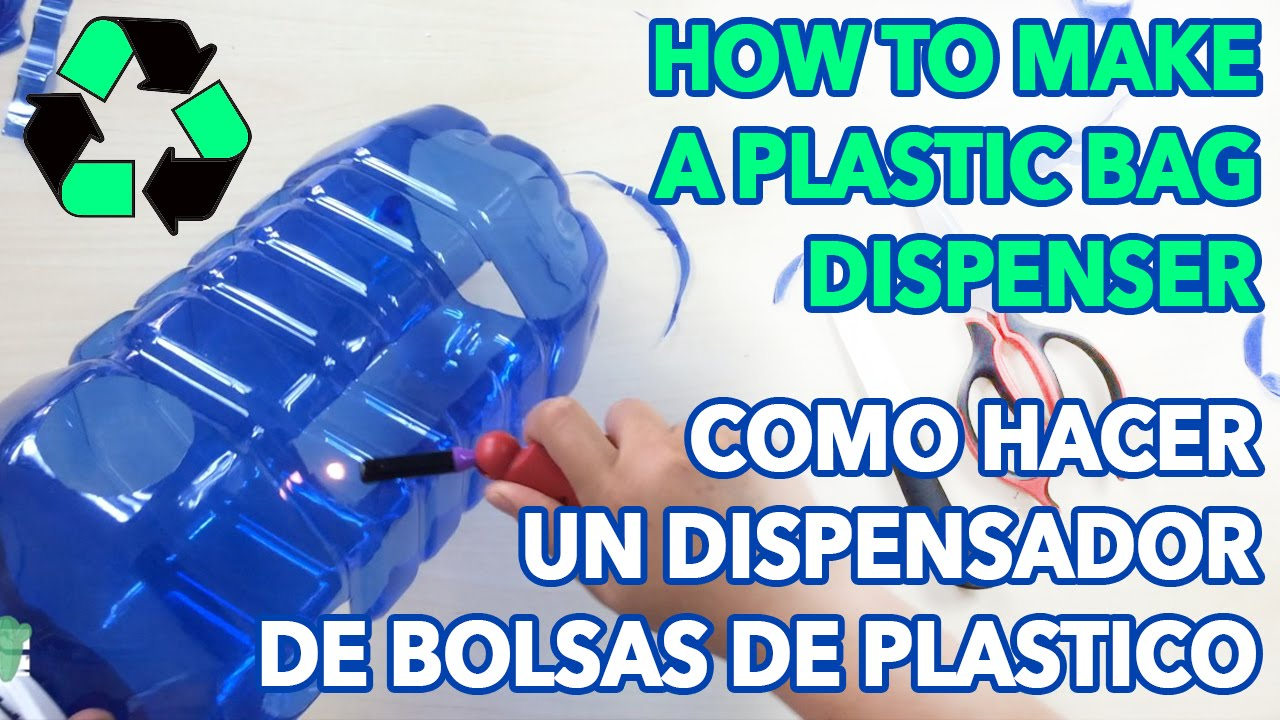 How to make a plastic bag dispenser como hacer un - Dispensador bolsas plastico ...