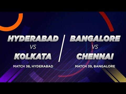 Cricbuzz LIVE: Hyderabad v Kolkata, Bangalore v Chennai