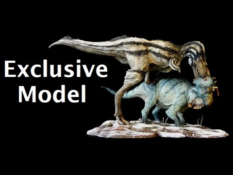 Gorgosaurus vs Pachyrhinosaurus Resin Model Kit by Sean Cooper and Dan