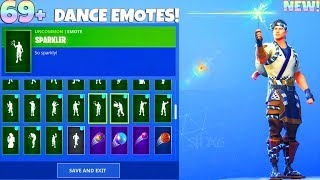 69+ DANCE EMOTES With NEW SUSHI MASTER Skin! Fortnite Battle Royale
