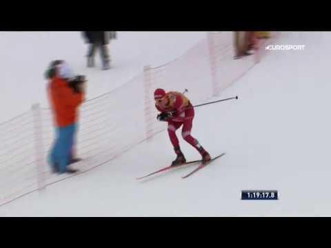 Ски Тур-2020   Победный финиш Александра Большунова в масс-старте на 34 км