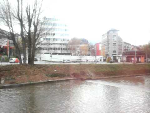 The Banks of the River Mijacka near the Vrbanja Bridge Sarajevo Bosnia