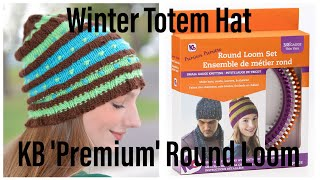 Loom Knit Winter Totem Hat Beginning to End