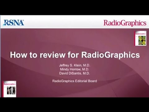How to Review for RadioGraphics thumbnail