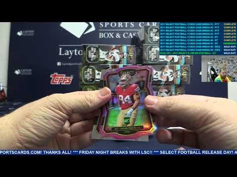 2017 Panini Select Football Hobby 12 Box Case Break #7 – RANDOM TEAMS