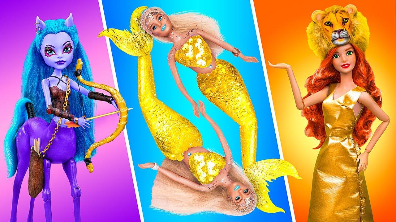 Barbie Sagitarius, Barbie Pisces Dan Barbie Leo - 14 Kreasi Boneka